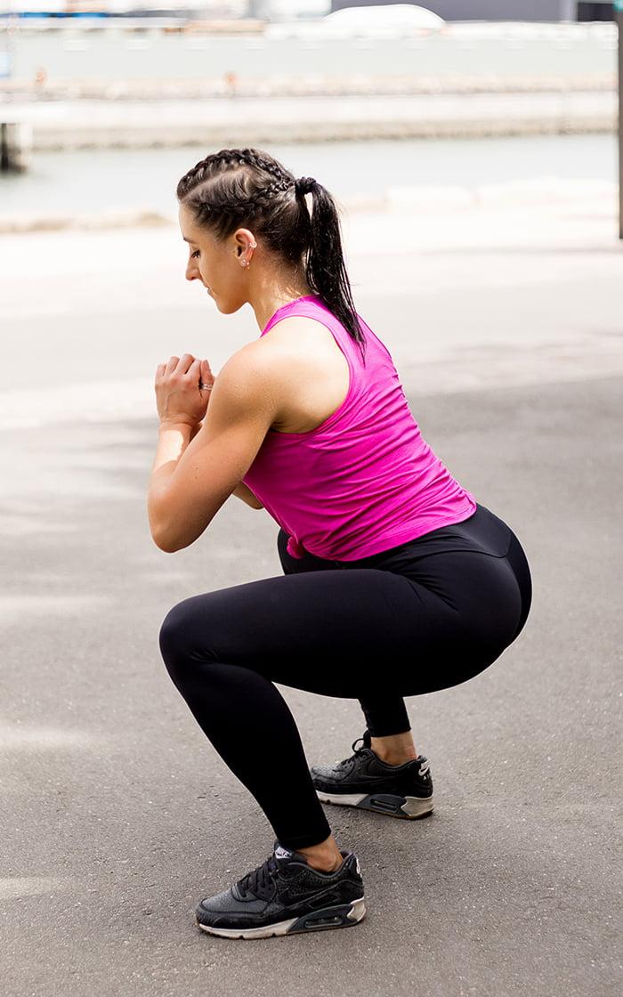 HIgh waisted black emana full length squat