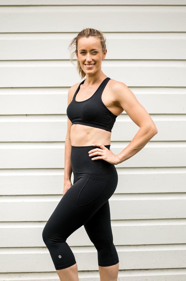 High waist black beauty 3/4 pocket tight full body
