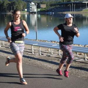 Gemma & christy running