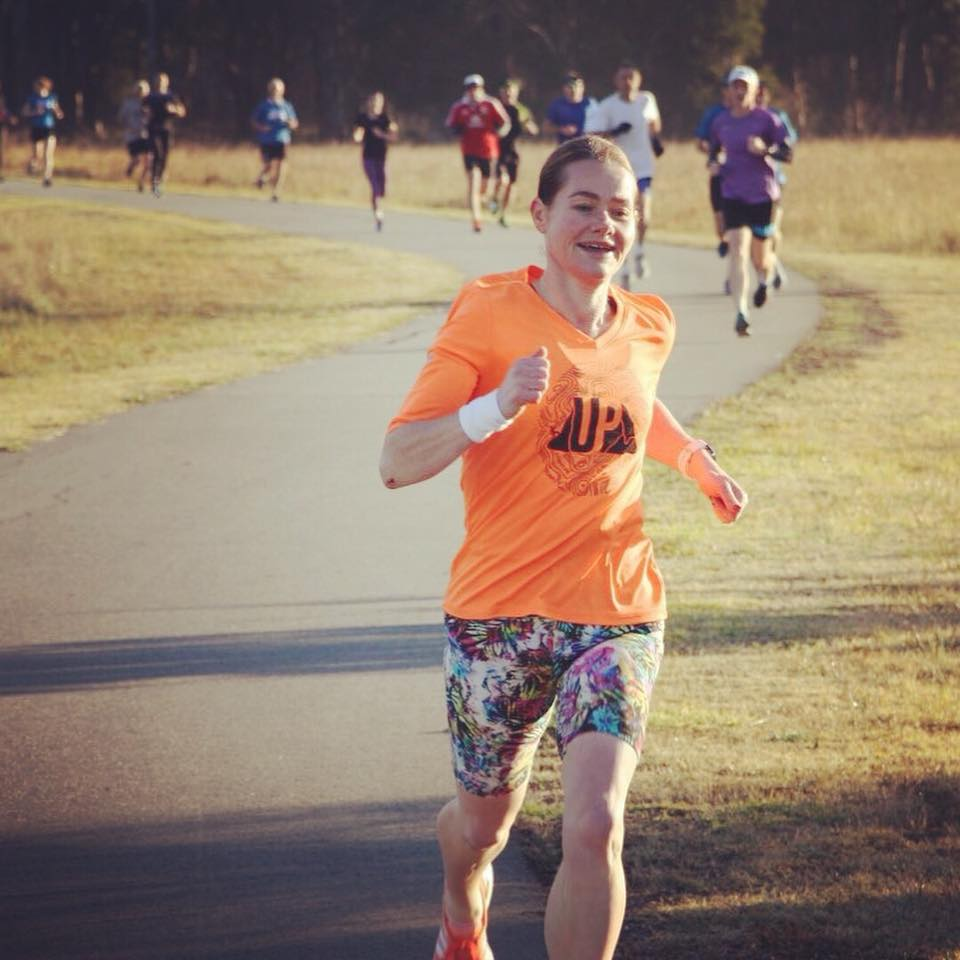 Leigha Wills beating all the men running