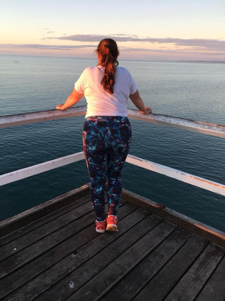 Veronique Canellas enjoying the view