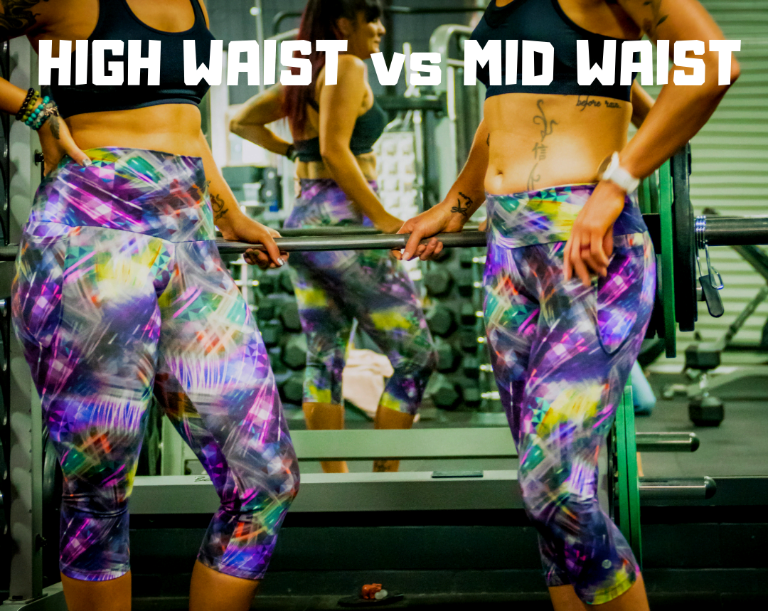 High waisted and mid waisted comparison
